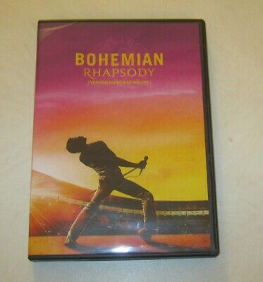 BOHEMIAN RHAPSODY preowned DVD, QUEEN  ( version Francaise Incluse) GOOD