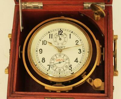 Russian Vintage Gimballed Marine Ships 56Hr Chronometer 14570 Serviced Gwo