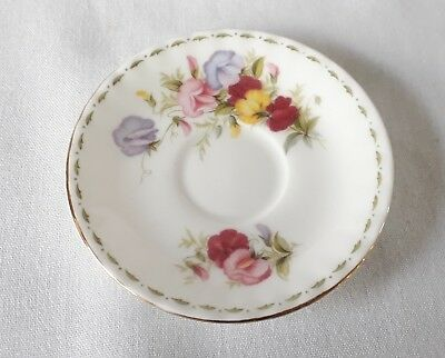 Royal Albert Flower of The Month April Sweet Pea Miniature Saucer - 1st Quality