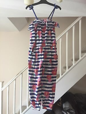 Matalan Girls Blue Striped Jumpsuit Age 4 Years