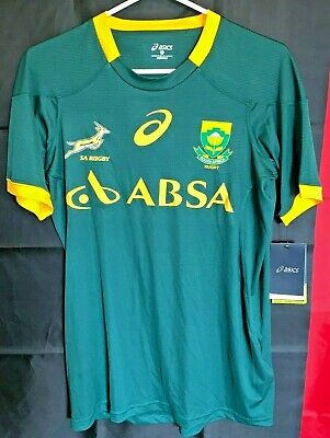 b9c75347f27 NEW Asics SA RUGBY SPRINGBOKS SOUTH AFRICA UNION NATIONAL TEAM JERSEY SIZE  small