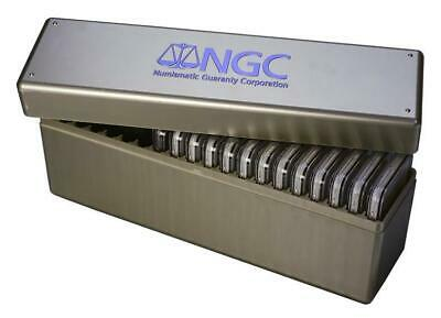 1 NGC Silver Slab Storage Box, holds 20 NGC STANDARD size coin holders-best box!