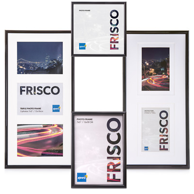 Kenro Frisco Black Plastic Picture Photo and Poster Frame | Multiple Sizes