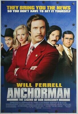 """Anchorman: The Legend of Ron Burgundy 2004 DS Original Movie Poster 27"""" x 40"""""""