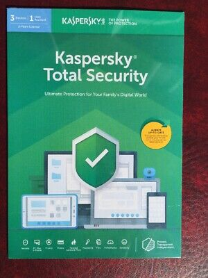 Brand New Kaspersky Total Security 2019 3 Devices 2 Years Pc/Mac/Android Uk