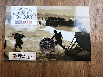 New Release 50p coin D-DAY ANNIVERSARY GIBRALTAR 2019
