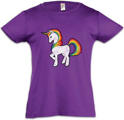 Unicorn IV Kids Girls T-Shirt Unicorns Geek Nerd Fun Cyclist Rainbow Fairies