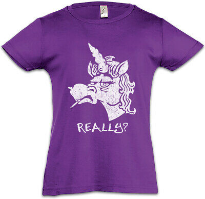 Grumpy Unicorn Kids Girls T-Shirt  Unicorns Geek Nerd Fun Rainbow Fairies Fairy
