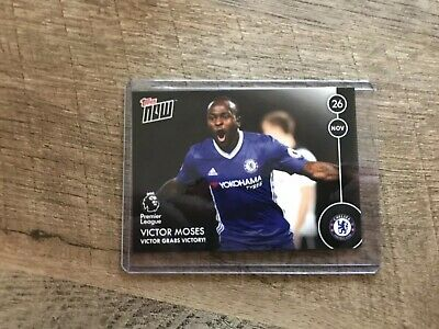 2016-17 Topps Now English Premier League #10 Victor Moses Only 112 Made
