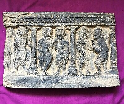 RARE SASANIAN LARGE ROCK RELIEF PANEL X 5 FIGURES c200/400AD