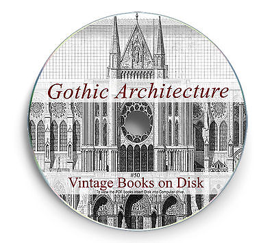 Rare Gothic Architecture Books on DVD Cathedral Church Medieval Castle French 50