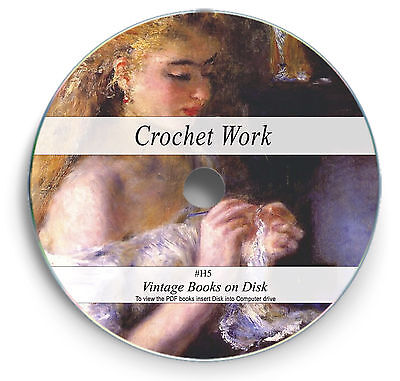 Crocheting Needle Craft 122 Rare Books on DVD Vintage Designs Patterns Sewing H5
