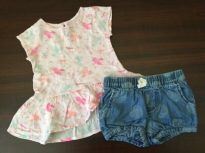 Girls Cherokee 2 Pc. Outfit Top & Bottoms  Size 12  Months