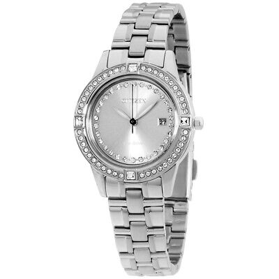 Citizen Silhouette Crystal Eco-Drive Movement Grey Dial Ladies Watch FE1150-58H