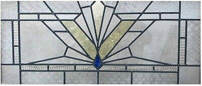Art Deco Leaded Stained Glass Window