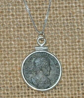 Ancient Coin of Constantine the Great House Constantius II 925 Silver Necklace