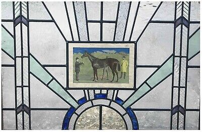 1920's Style Leaded Stained Glass Window