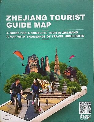 ZHEJIANG Tourist Guide Map - Free UK Postage