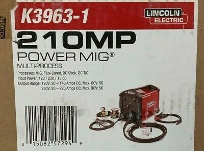 lincoln electric power mig 210 mp multi process welder k3963 1
