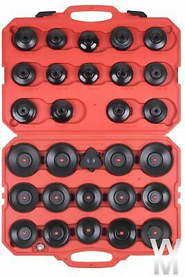 31pc Cap Cup Type Oil Filter Remover Socket Wrench Tool Set Removal Kit Garage