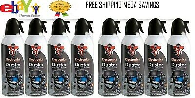 8 Compressed Air Computer TV Gas Cans Duster 10 oz ea Dust Off Laptop Keyboard