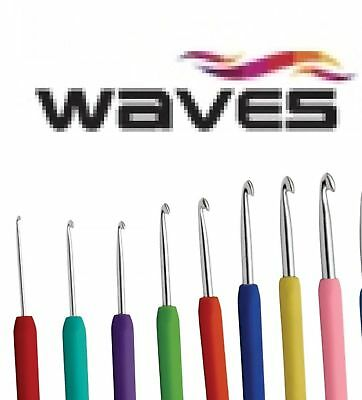 Waves Knitter's Pride® Aluminum Crochet Hook Ergonomic Handle Choice of 2mm-12mm