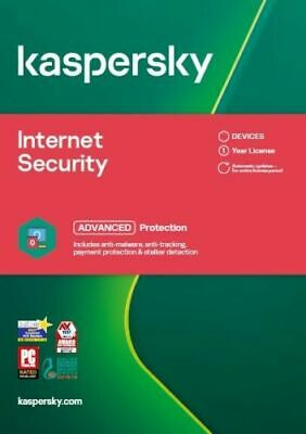 KASPERSKY INTERNET SECURITY 2020 3 PC MULTI DEVICE - 2 YEARS COVER - Download