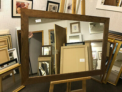 TRADE PRICED 70mm FLAT VICTORIAN STAINED SOLID OAK WALL AND OVERMANTLE MIRRORS