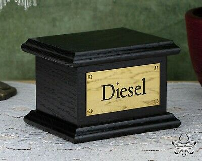 Solid Wood Black Pet / Cat / Dog, Cremation Urn / Casket up to 10 kg