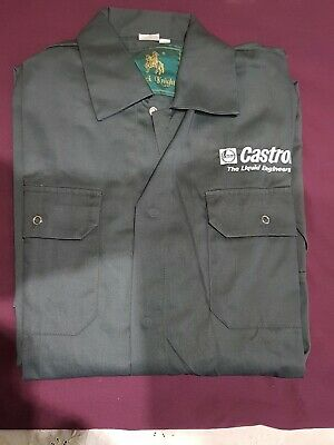 "Rare Black Knight Vintage Retro Style Castrol Badged Overalls 40"" Chest"