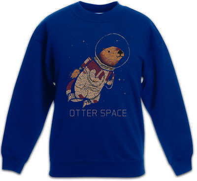 Otter Space Kids Boys Girls Pullover Love Addicted Astronaut Fun Planet Planets
