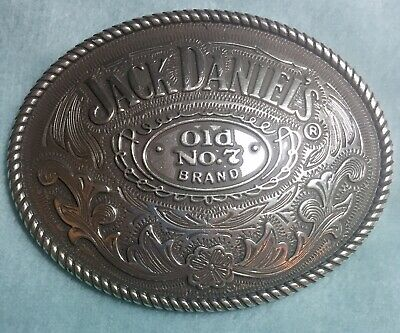 Men's Large Jack Daniels Old No. 7 Brand 2005 Western Style Look Rope Edge