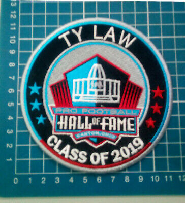 """Ty Law 2019 Hof England Patriots Pro Football Patch 4.5"""" Nfl Canton Ohio Embroid"""