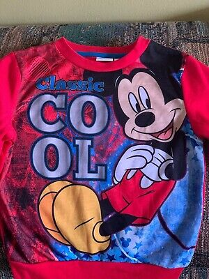 MICKEY MOUSE Classic COOL Boys' Red SWEATSHIRT / TOP size 5T NWT! Disney