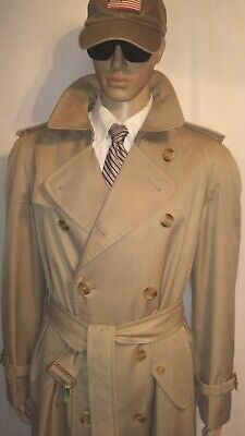 76b58dcb5 MEN'S VINTAGE BURBERRY Trench Coat w/ Full Optional Lining - Immaculate -  40 L