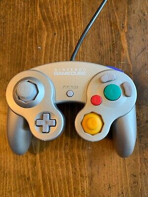 Original OEM Nintendo GameCube Platinum Controller (Official Tested) Authentic