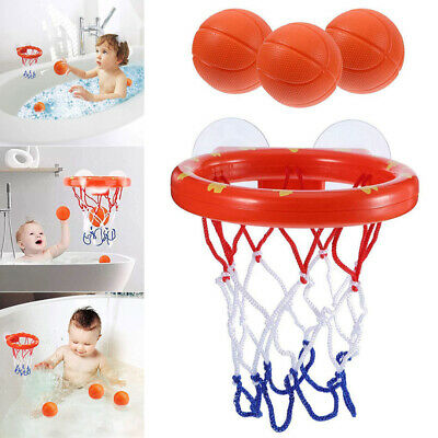 1 Set Basketball Hoop Suction Cup For Development Baby Kids Toddlers Bath Toys