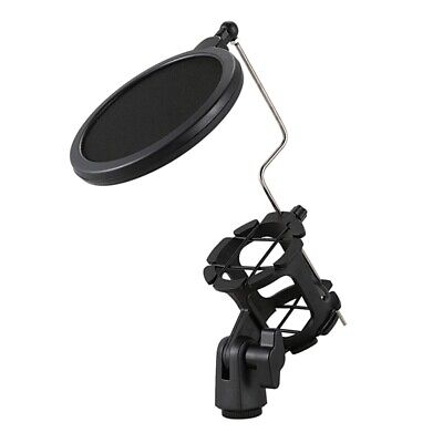 Studio Microphone Mic Wind Screen Pop Filter/ Swivel Mount / Mask Shield Fo N8N2