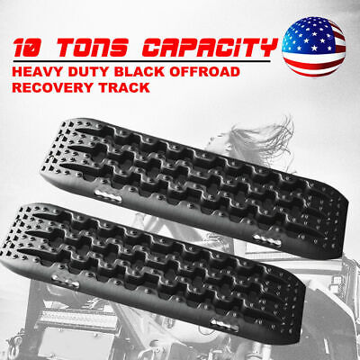 10T Black Sand Tracks Recovery Traction Track Snow Mud Tire Ladder 4WD Off Road