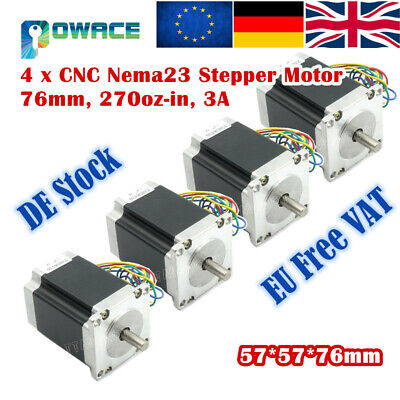 4P Nema23 Stepper/Stepping motor 270Oz-in/76mm/3A for 3D Printer/CNC Router【UK】