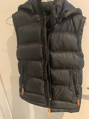 Bauhaus boys size 10 puffer vest Black with Blue lining from Myers