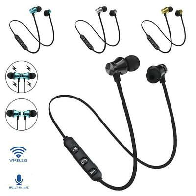 Cool Bluetooth4.2 Earphone Headset Wireless Stereo Magnetic Earbud For All Phone