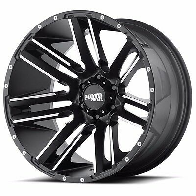 20x12 Satin Black Red Machine Moto Metal Mo 978 Wheels Fits Ram