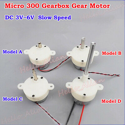 Mini DC 3V 6V 9V Slow Speed Micro 300 Gearbox Gear Motor Reducer Threaded shaft