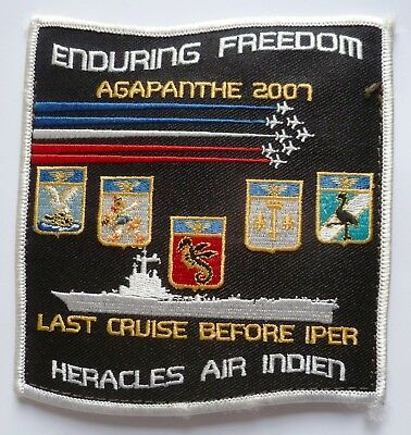 Insigne Patch AERONAVALE FLOTTILLES EMBARQUEES ENDURING FREEDOM PA CDG 2007 OPEX