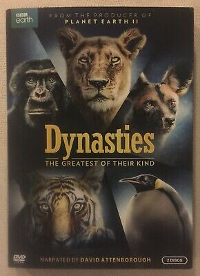 BBC Earth Dynasties: The Greatest Of Their Kind (DVD Set) New W/ Slipcover