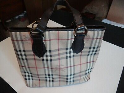 bd04b6952d BURBERRY HAYMARKET CHECK Chester Tote with Dust Bag - $225.00   PicClick