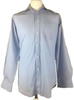 """Mens Blue Vintage St Michael Shirt, 15"""" Collar, Marks And Spencer, YY14"""
