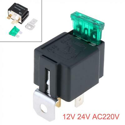 12V 30A Plastic & Metal Automotive Car Relay 4 Pin Relay Socket Holder with Fuse