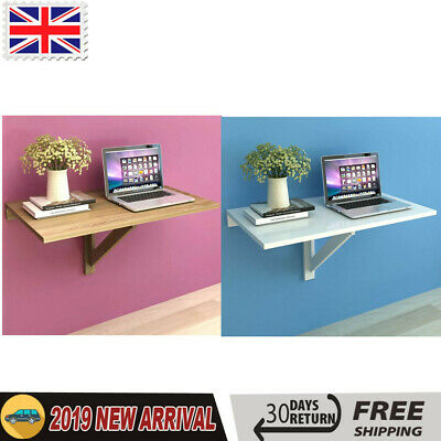 Folding Wall-mounted Drop-leaf Table Kitchen Dining PC Computer Desk White/Oak